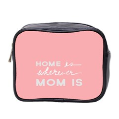 Home Love Mom Sexy Pink Mini Toiletries Bag 2 Side by Mariart