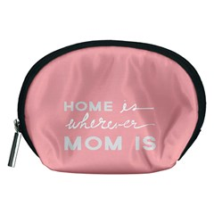 Home Love Mom Sexy Pink Accessory Pouches (medium)  by Mariart