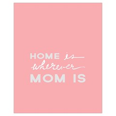 Home Love Mom Sexy Pink Drawstring Bag (small) by Mariart