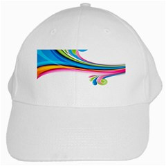 Colored Lines Rainbow White Cap by Mariart