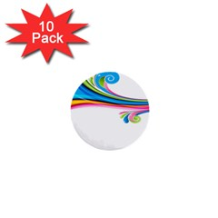 Colored Lines Rainbow 1  Mini Buttons (10 Pack)  by Mariart