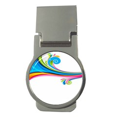Colored Lines Rainbow Money Clips (round)  by Mariart