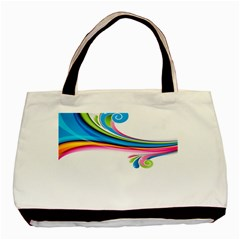 Colored Lines Rainbow Basic Tote Bag by Mariart