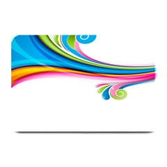 Colored Lines Rainbow Plate Mats by Mariart