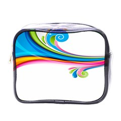 Colored Lines Rainbow Mini Toiletries Bags by Mariart