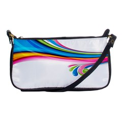 Colored Lines Rainbow Shoulder Clutch Bags by Mariart
