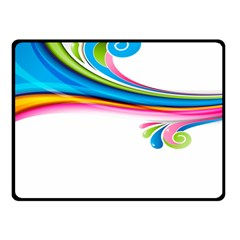 Colored Lines Rainbow Fleece Blanket (small) by Mariart