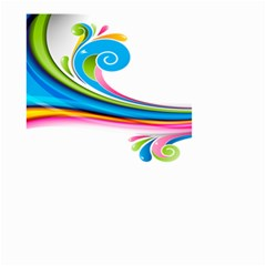 Colored Lines Rainbow Small Garden Flag (two Sides) by Mariart