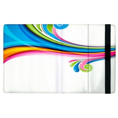 Colored Lines Rainbow Apple Ipad 2 Flip Case by Mariart