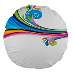 Colored Lines Rainbow Large 18  Premium Round Cushions by Mariart