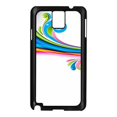 Colored Lines Rainbow Samsung Galaxy Note 3 N9005 Case (black) by Mariart