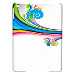 Colored Lines Rainbow Ipad Air Hardshell Cases by Mariart