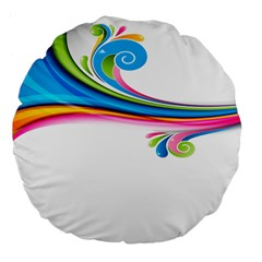 Colored Lines Rainbow Large 18  Premium Flano Round Cushions by Mariart