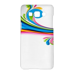 Colored Lines Rainbow Samsung Galaxy A5 Hardshell Case  by Mariart