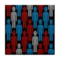 Human Man People Red Blue Grey Black Face Towel by Mariart