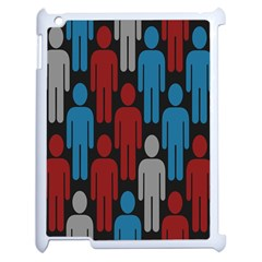 Human Man People Red Blue Grey Black Apple Ipad 2 Case (white) by Mariart