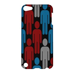Human Man People Red Blue Grey Black Apple Ipod Touch 5 Hardshell Case by Mariart