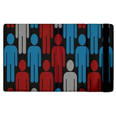 Human Man People Red Blue Grey Black Apple Ipad 3/4 Flip Case by Mariart