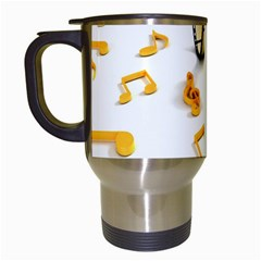 Isolated Three Dimensional Negative Roll Musical Notes Movie Travel Mugs (white) by Mariart
