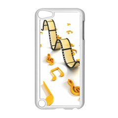 Isolated Three Dimensional Negative Roll Musical Notes Movie Apple Ipod Touch 5 Case (white) by Mariart