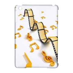 Isolated Three Dimensional Negative Roll Musical Notes Movie Apple Ipad Mini Hardshell Case (compatible With Smart Cover) by Mariart