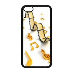 Isolated Three Dimensional Negative Roll Musical Notes Movie Apple Iphone 5c Seamless Case (black) by Mariart