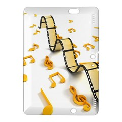 Isolated Three Dimensional Negative Roll Musical Notes Movie Kindle Fire Hdx 8 9  Hardshell Case by Mariart
