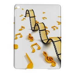Isolated Three Dimensional Negative Roll Musical Notes Movie Ipad Air 2 Hardshell Cases by Mariart