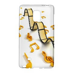 Isolated Three Dimensional Negative Roll Musical Notes Movie Galaxy Note Edge by Mariart
