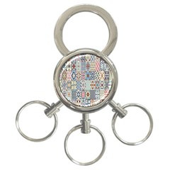 Deco Heritage Mix 3 Ring Key Chains by Mariart