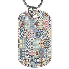 Deco Heritage Mix Dog Tag (two Sides) by Mariart