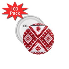 Fabric Aztec 1 75  Buttons (100 Pack)  by Mariart