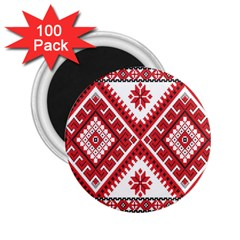 Fabric Aztec 2 25  Magnets (100 Pack)  by Mariart