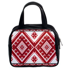 Fabric Aztec Classic Handbags (2 Sides) by Mariart