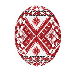 Fabric Aztec Oval Filigree Ornament (two Sides) by Mariart
