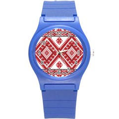 Fabric Aztec Round Plastic Sport Watch (s) by Mariart