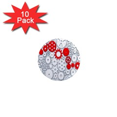 Iron Chain White Red 1  Mini Magnet (10 Pack)  by Mariart