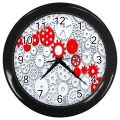 Iron Chain White Red Wall Clocks (black) by Mariart