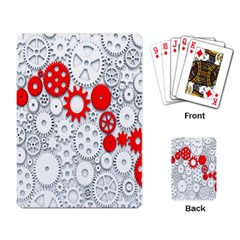Iron Chain White Red Playing Card by Mariart