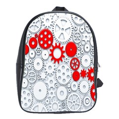 Iron Chain White Red School Bags(large)  by Mariart