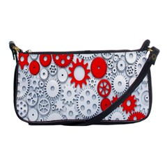 Iron Chain White Red Shoulder Clutch Bags by Mariart