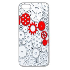 Iron Chain White Red Apple Seamless Iphone 5 Case (clear) by Mariart