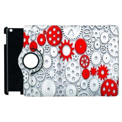 Iron Chain White Red Apple Ipad 2 Flip 360 Case by Mariart