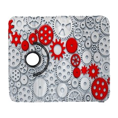Iron Chain White Red Galaxy S3 (flip/folio) by Mariart