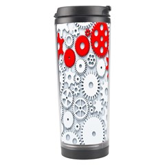 Iron Chain White Red Travel Tumbler by Mariart