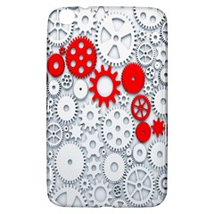 Iron Chain White Red Samsung Galaxy Tab 3 (8 ) T3100 Hardshell Case  by Mariart