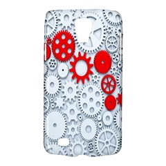 Iron Chain White Red Galaxy S4 Active by Mariart
