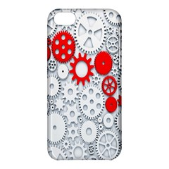 Iron Chain White Red Apple Iphone 5c Hardshell Case by Mariart