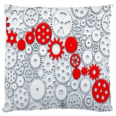 Iron Chain White Red Large Flano Cushion Case (two Sides) by Mariart