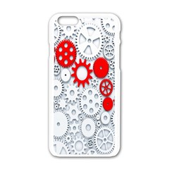 Iron Chain White Red Apple Iphone 6/6s White Enamel Case by Mariart